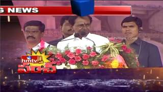 CM KCR Fires on Congress Leaders over Irrigation Projects | KCR Public Meeting | HMTV - HMTVLIVE