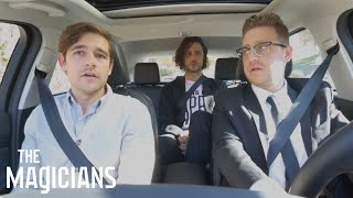 THE MAGICIANS | The Magicians In Cars Getting Rides | SYFY - SYFY