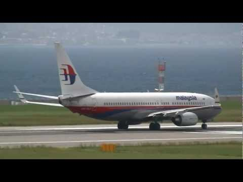 Malaysia Airlines Boeing 737-800 9M-MLF Take off at Kansai