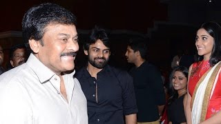 Mega Star Chiranjeevi Grand Entry At Pilla Nuvvuleni Jeevitham Audio Launch - ADITYAMUSIC