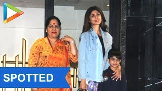 SPOTTED : Shilpa Shetty with her son at Juhu - HUNGAMA
