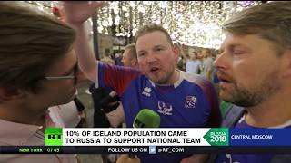Vikings invaded Moscow: 10% of Icelanders came to Russia for football, won people's hearts - RUSSIATODAY
