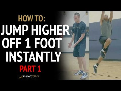 How To: Dunk off of ONE LEG - Instantly Jump Higher PART ONE (Last Three Steps of Vertical Jump)