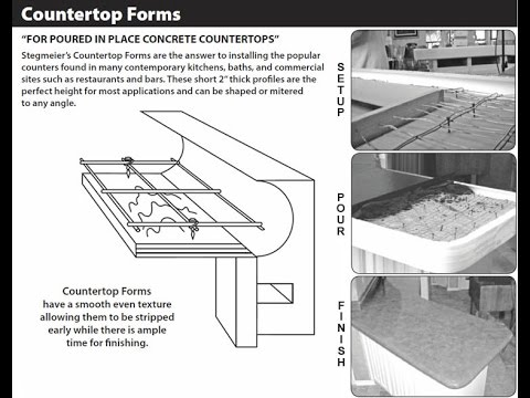 Stegmeier Corporation Concrete Counter Top Installation Video