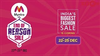 Best Deals at End of Reason Sale on Myntra from 22nd to 25th december - ZOOMDEKHO