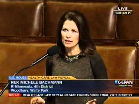 Bachmann Supports ObamaCare Repeal
