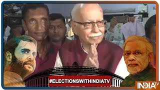 Lok Sabha Elections 2019:Veteran BJP leader LK Advani Casts His Vote At a Polling Booth In Ahmedabad - INDIATV
