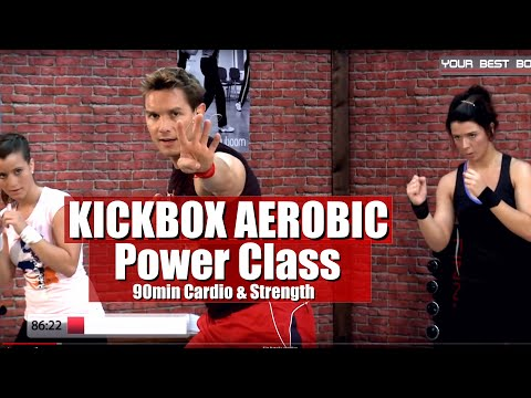 Full Body - Kick Box Aerobic Workout Routine 90 Min