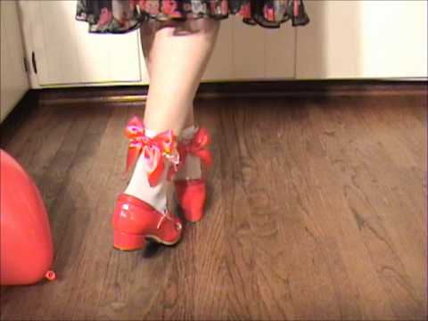 Anna Taps in Red Tap Shoes!