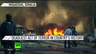 Somalia Blasts: Deadliest act of terror in country's history, hundreds killed & injured - RUSSIATODAY