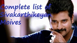 Complete list of Sivakarthikeyan movies