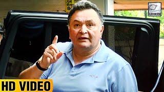 Rishi Kapoor Gets Angry On Reporters Shouting 'Ganpati Bappa Morya' | LehrenTV