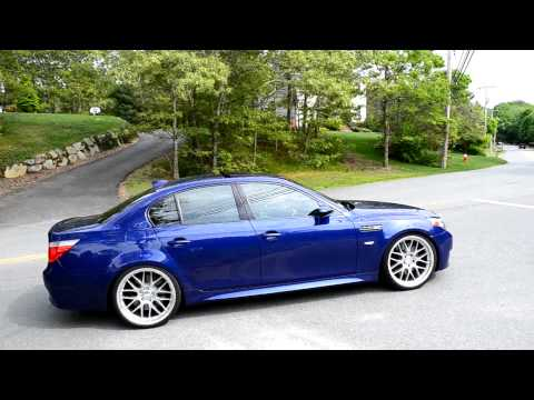 BRUTAL BMW E60 M5 meisterschaft acclerations - Powerslide, on board, revving, and more!