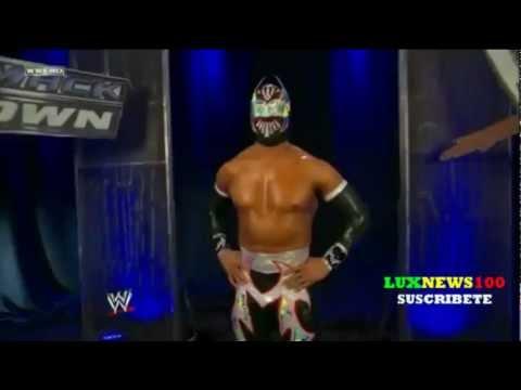 Sin Cara vs  Heath Slater Sin cara (Unico) Nueva mascara Negra Smackdown 30/9/11