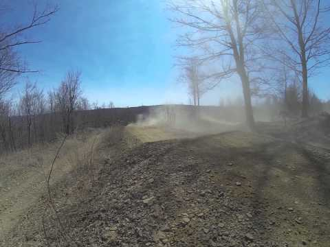 Outlander xxc on the MX track Majestic trails 4-19-14