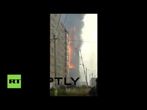 Rusia: Voraz incendio devasta un edificio de 25 plantas en una ciudad siberiana
