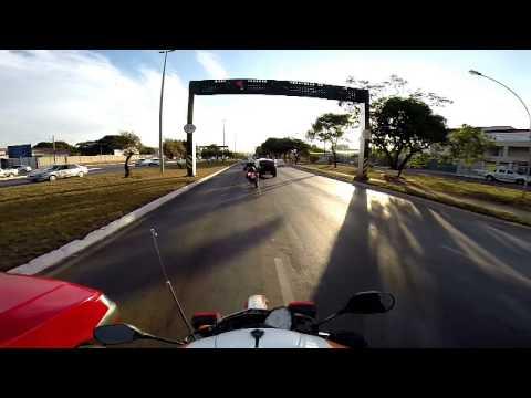 Deslocamento GMAU SAMU DF queda de moto _ AMBULANCE MOTORCYCLE