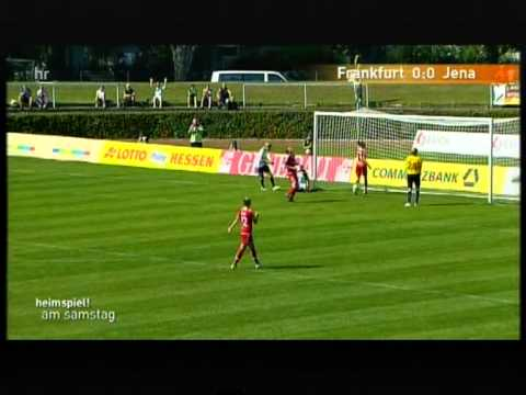 1. FFC Frankfurt - FF USV Jena Frauenbundesliga 2011/12 (better video quality)
