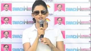 Rakul Preet Singh Speech at Telugu Film Industry Swachh Hyderabad - TFPC