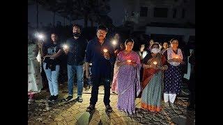 Mega Star Chiranjeevi Family Participates In Light For India Campaign - RAJSHRITELUGU
