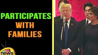 President Trump and Melania Trump Participate with Families of North Korean Abduct | Mango News - MANGONEWS