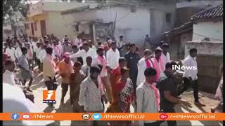 TRS Candidate Manchireddy Kishan Reddy House to House Campaign In Ibrahimpatnam | iNews - INEWS