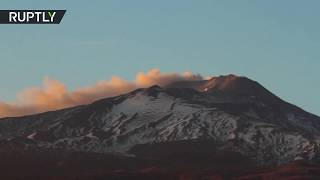 Plumes of smoke over mount Etna in Sicily - RUSSIATODAY