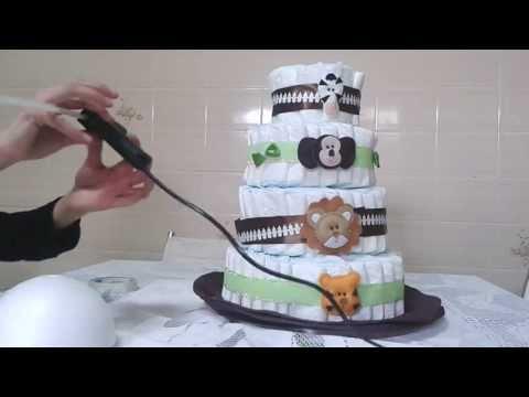 Como decorar um bolo de fraldas - finalizando