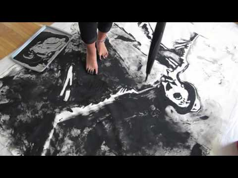 Painting With Feet - Gene Kelly