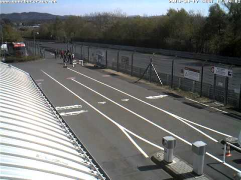 Nurburgring Gate Webcam Timelapse April 17, 2014