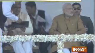PM Modi reaches MP's Khandwa - INDIATV