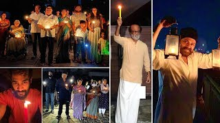 Tollywood Celebs Participates In Light For Nation Campaign | Chiranjeevi, Venkatesh, Allu arjun - IGTELUGU
