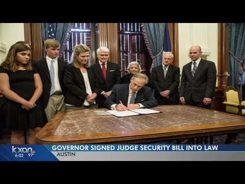 Abbott signs bill into law to improve courthouse security, honors Judge Kocurek