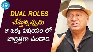 Rajendra Prasad About Dual Role Performance | Talking Movies With iDream | Deeksha Sid - IDREAMMOVIES