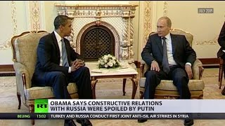Blame Putin: Obama scapegoats Russian president for decline in relations - RUSSIATODAY