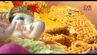 పానీ పూరీ గణపతి | Ganpati Idol Made Of 10,000 Paani Puris For Ganesh Chaturthi At Pune Shop|CVR News - CVRNEWSOFFICIAL