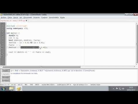 C++ - Expresiones Booleanas 4 (NOT)