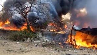 Kheda: Fire breaks out in scrap godown - TIMESOFINDIACHANNEL