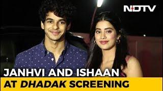 Varun, Karan, Janhvi & Others At The Screening Of 'Dhadak' - NDTV