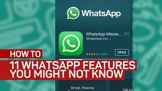 11 WhatsApp features you might not know - CNETTV