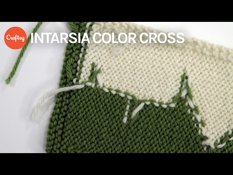 Intarsia Color Cross | Colorwork Knitting Tutorial with Sally Melville