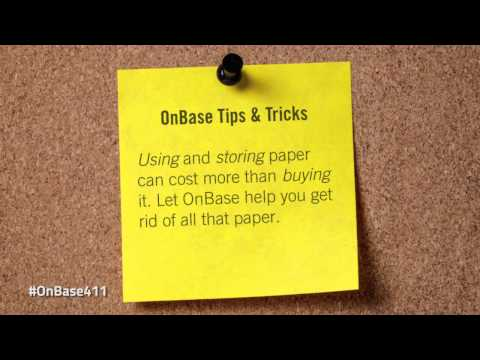 #OnBase411: Getting rid of paper is just the beginning