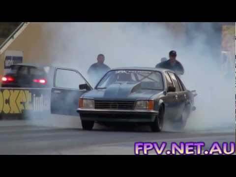 BK RACE ENGINES OUTLAW 10.5 TURBO V8 COMMODORE RUNS 7.47 @ 170 MPH SYDNEY DRAGWAY 18.1.2013