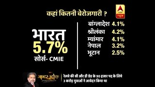 "Master Stroke: ""India has less unemployment rate than neighbouring countries""; here's real - ABPNEWSTV"