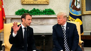 Trump and Macron joint news conference at the White House - WASHINGTONPOST