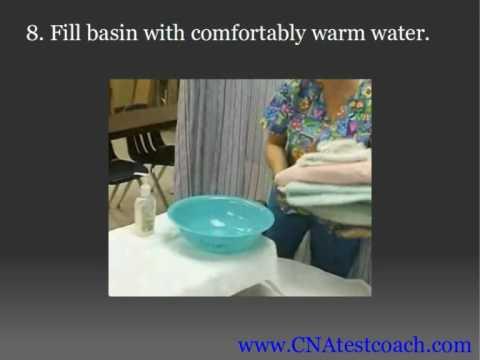 bed bath procedure caregiver 2