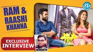 Shivam Cast Ram & Raashi Khanna's Exclusive Interview || Talking Movies with iDream #23 - IDREAMMOVIES