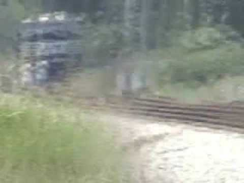 Norfolk Southern train almost hits 2 people