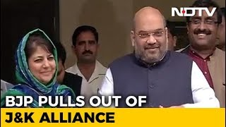 BJP Ends Alliance With Mehbooba Mufti's PDP In Jammu And Kashmir - NDTV