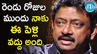 My Question Is Are You Still Married - Director Ram Gopal Varma | Ramuism 2nd Dose - IDREAMMOVIES